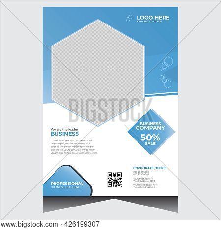 Blue Simple Corporate Business Flyer Design Template