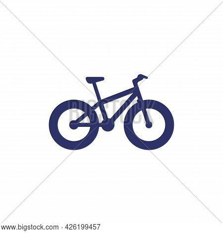 Fat-bike Icon, A Snow Bicycle On White