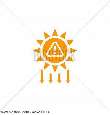 Uv Radiation Warning And Solar Ultraviolet Icon