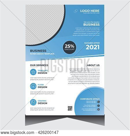 Promotional Blue Corporate Business Flyer Design Template