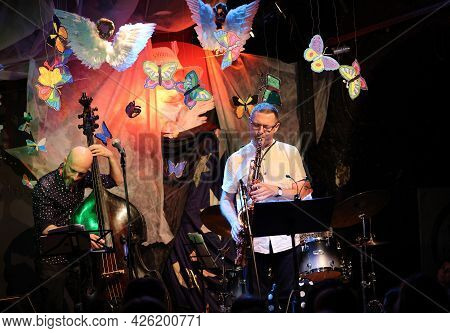 Cracow, Poland - July 5, 2021: Jan Ptaszyn Wroblewski Quartet And Maciej Sikala Live At 26rd Edition