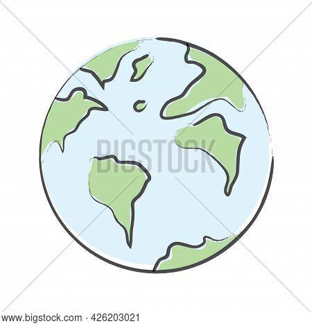 Hand Drawn World Planet Earth