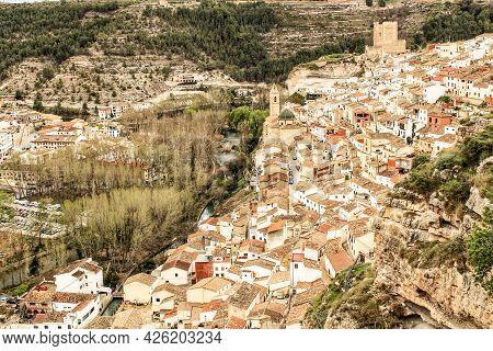 Beautiful Overview Of Alcalá De Jucar In The Morning In Castilla La Mancha, Spain