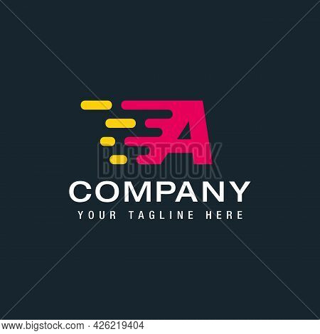 Professional Logo Template. The Letter A Logo, The Logo Element, Can Be Used For Logistics, Transpor