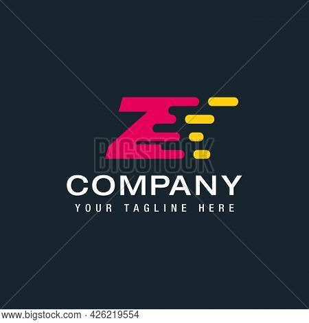 Letter Z With Delivery Service Logo, Fast Speed, Moving And Quick, Digital And Technology For Your C