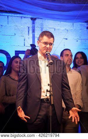 Belgrade, Serbia - March 20, 2017: Selective Blur On Vuk Jeremic, Democratic Center Right Candidate