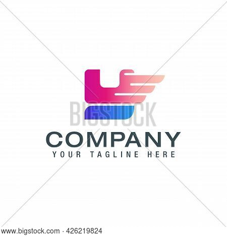 Initial Y Letter Logo With Wings Creative Modern Business Typography Vector Template.