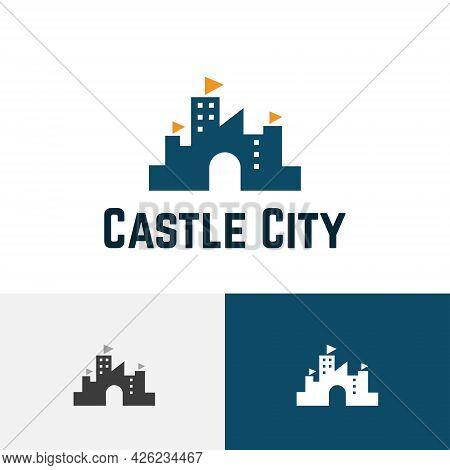 Castle City Building Fort Kingdom Real Estate Logo