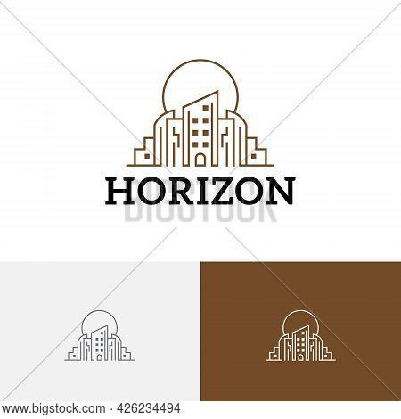 Horizon City Building Metropolis Sun Line Realty Logo