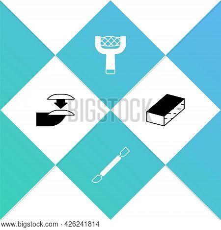 Set False Nails, Cuticle Pusher, Nail File And Icon. Vector