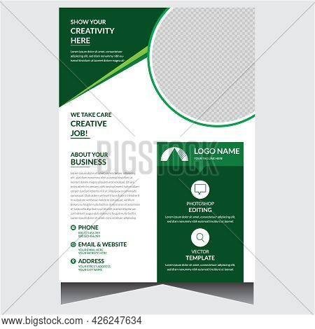 Promotional Corporate Business Flyer Design Template Vector