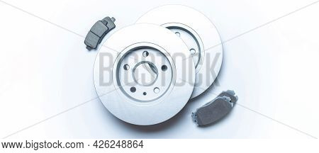 Spare Parts. Auto Motor Mechanic Spare Or Automotive Piece On White Background. New Metal Car Part.