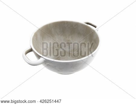 Empty Plate Isolated On White Background Prato, Porcelain, Dining, Simple, Kitchenware, Studio,