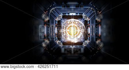 Technological industrial abstract background . Mixed media