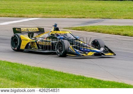 July 02, 2021 - Lexington, Ohio, USA: COLTON HERTA (26) of Valencia, Canada practices for the Honda Indy 200 at Mid-Ohio at Mid Ohio Sports Car Course in Lexington, Ohio.