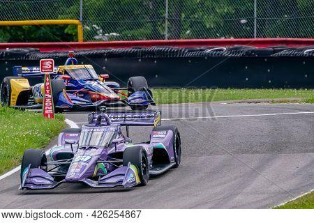 July 02, 2021 - Lexington, Ohio, USA: ROMAIN GROSJEAN (R) (51) of Geneva, Switzerland practices for the Honda Indy 200 at Mid-Ohio at Mid Ohio Sports Car Course in Lexington, Ohio.