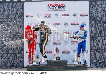July 04, 2021 - Lexington, Ohio, USA: JOSEF NEWGARDEN (2) of the United States wins the Honda Indy 200 at Mid-Ohio at the Mid Ohio Sports Car Course in Lexington, Ohio.