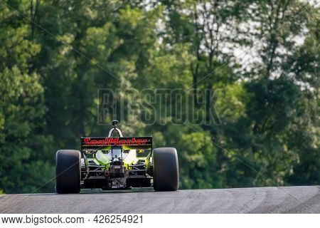 July 03, 2021 - Lexington, Ohio, USA: ED JONES (18) of Dubai, United Arab Emirates practices for the Honda Indy 200 at Mid-Ohio at Mid Ohio Sports Car Course in Lexington, Ohio.
