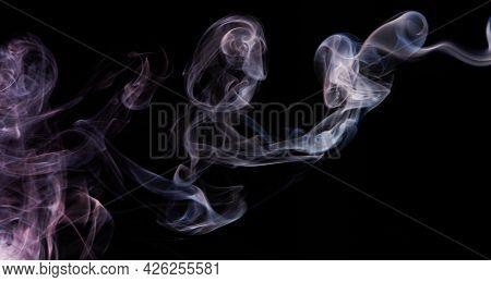 Purple Blue Smoke Flow