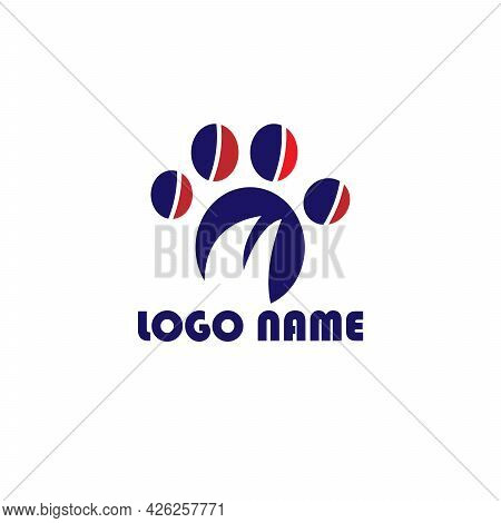 Dog Pow Animal Pet Design Logo Vector