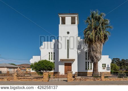 Touws River, South Africa - April 20, 2021: The Dutch Reformed Church Hall In Touws River In The Wes