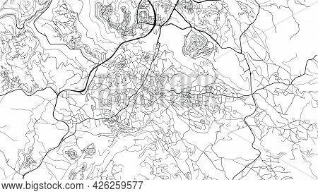 Urban Vector City Map Of Bethlehem, Palestine, Middle East