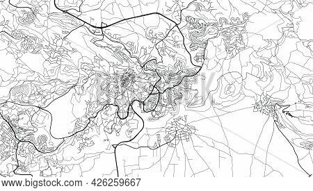 Urban Vector City Map Of Nazareth, Israel, Middle East