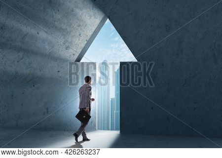 Businessman in personal growth concept