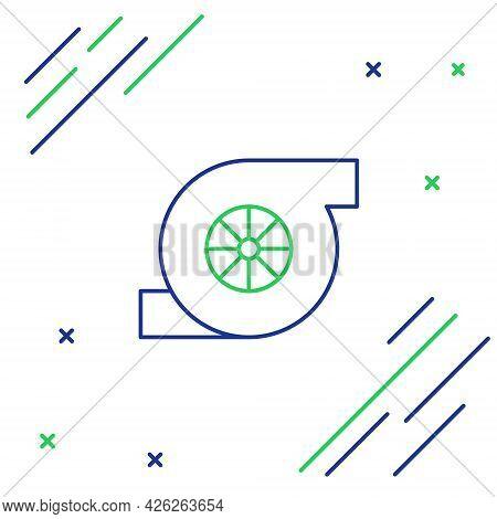 Line Automotive Turbocharger Icon Isolated On White Background. Vehicle Performance Turbo. Turbo Com
