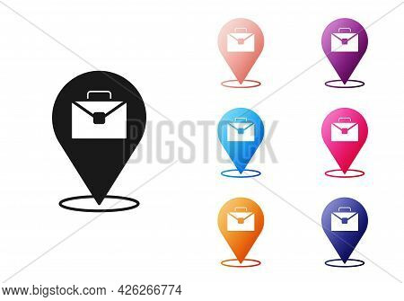 Black Online Working Icon Isolated On White Background. Freelancer Man Working On Laptop At His Hous