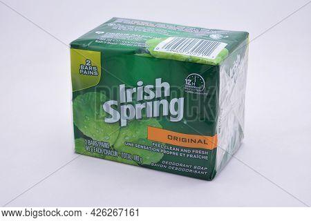 Manila, Ph - July 9 - Irish Spring Original Deodorant Soap On July 9, 2021 In Manila, Philippines.