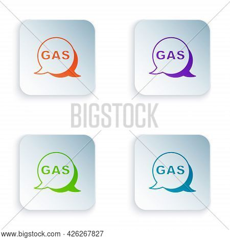 Color Location And Petrol Or Gas Station Icon Isolated On White Background. Car Fuel Symbol. Gasolin