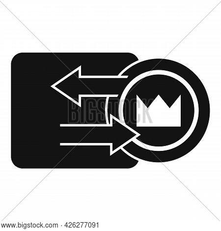 Token Convertor Icon Simple Vector. Nft Fungible. Crypto Art Token