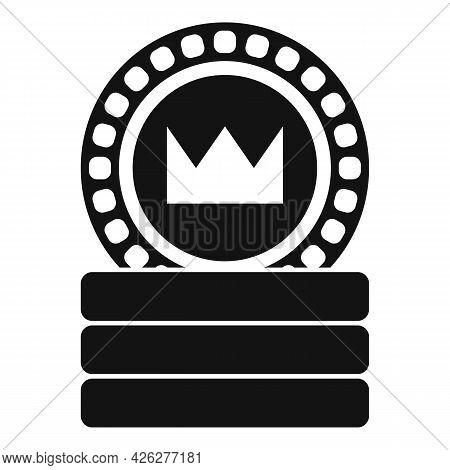 Token Coin Icon Simple Vector. Currency Fund. Token Money