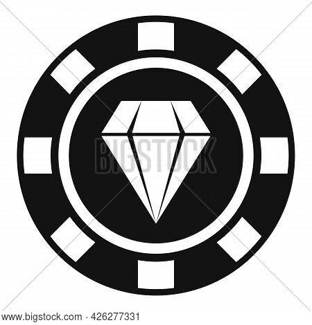 Diamond Token Icon Simple Vector. Badge Quality. Special Prize Reward