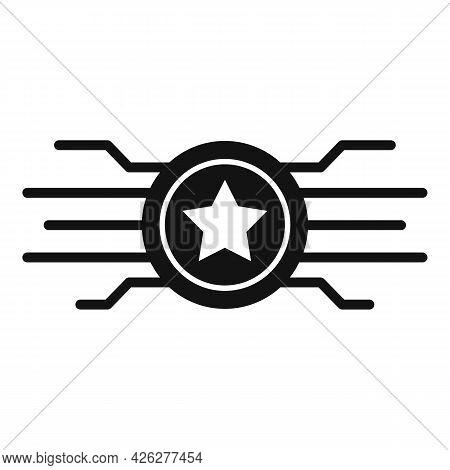 Token Benefit Icon Simple Vector. Reward Loyalty. Bonus Badge Token
