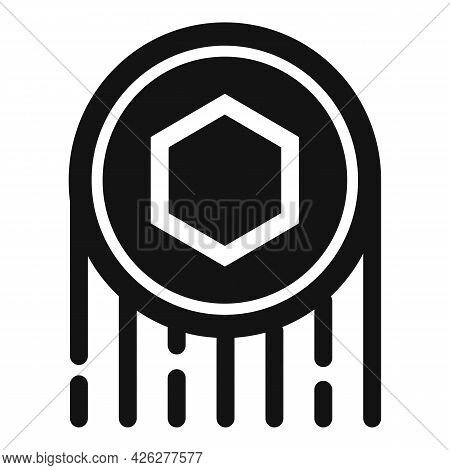 Fly Token Icon Simple Vector. Nft Fungible Coin. Crypto Marketplace