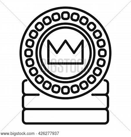 Token Coin Icon Outline Vector. Currency Fund. Token Money
