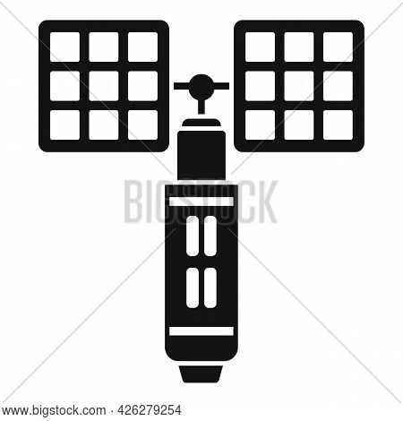 Galactic Space Station Icon Simple Vector. Astronaut Spaceship. Cosmos Space Station