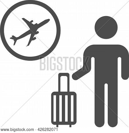 Vector Image Of The Baggage Claim Point At The Airport.