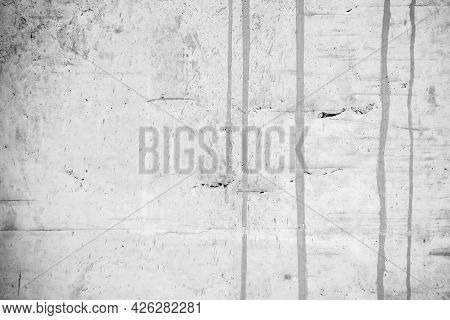 The White Concrete Stone. Concrete Plastered Stucco Wall Painted. White Grunge Cement Or Concrete Pa
