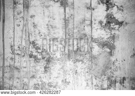 The White Cement Stone Concrete Plastered Stucco Wall Painted. The Concrete Wall Background Abstract