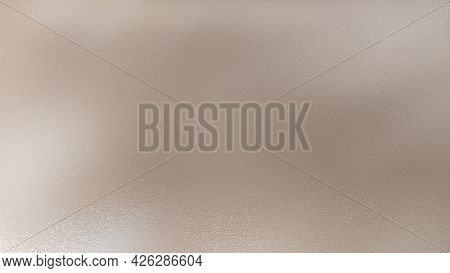 Background Glass Frosted With A Pattern. Frosted Frosty Pattern On The Glass. Beige Background.