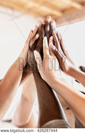 People giving each other a high five