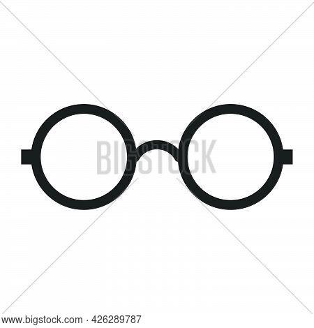 Glasses Fashion Accessory Vector Icon Illustration. Eye Sunglasse Isolated White Style Frame. Retro