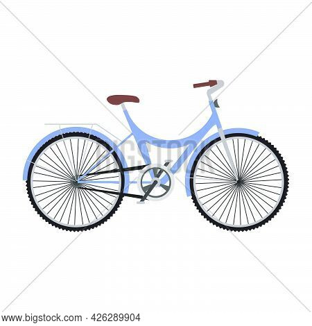 Sport Bicycle Vector Illustration Transportation Icon Bike Design. Travel Sport Bicycle Sign Object