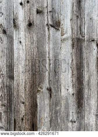 Old Gray Brown Wood Background Made Of Dark Natural Wood In Grunge Style. The View From The Top. Nat