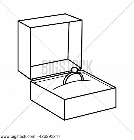 Engagement Ring. Wedding Ring. Ring In A Box. Valentine's Day. Declaration Of Love. Offer Of Marriag