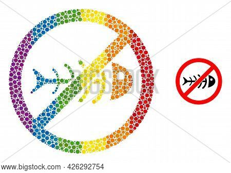 Stop Toxic Waste Mosaic Icon Of Round Dots In Various Sizes And Rainbow Color Tints. A Dotted Lgbt-c