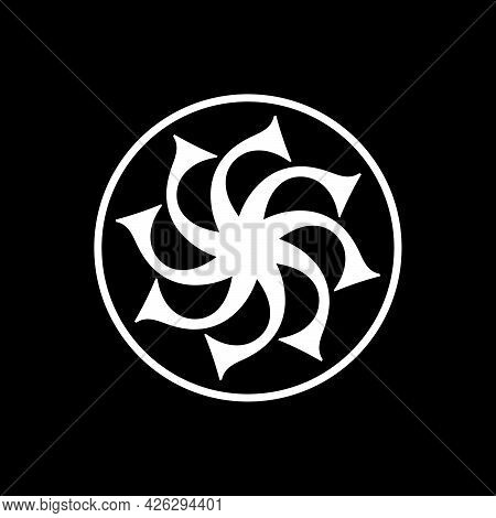 Initial Letter S Logo Template With Geometric Swirl Vintage Hexagram Illustration In Flat Design Mon